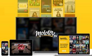 Détail de la page d'accueil de Molotv.tv.