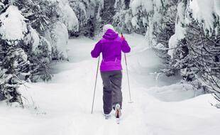 Une pratiquante de ski de fond