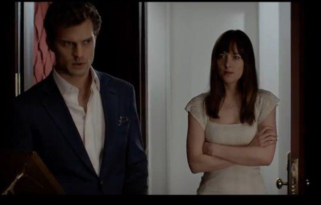 Jamie Dorman et Dakota Johnson dans le trailer du film «Fifty shades of Grey».
