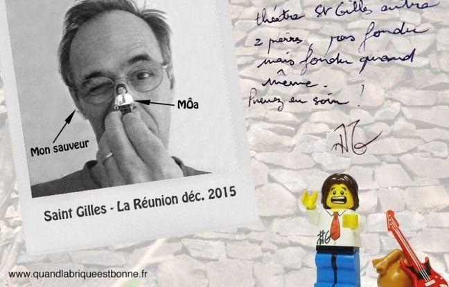 Jean-Jacques Goldman s'est pris en selfie avec son alter-ego en lego.