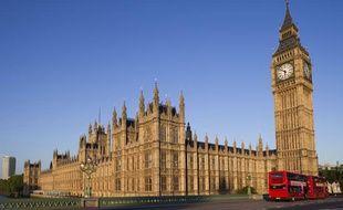 Le palais de Westminster, à Londres, où siègent la Chambre des Lords et la Chambre des Communes. Le 28 janvier 2013.
