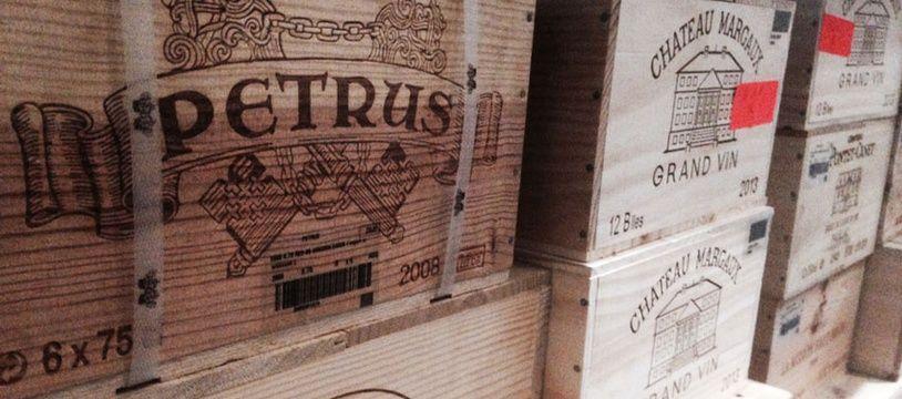 Caisse de château petrus entreposée chez Bordeaux City Bond