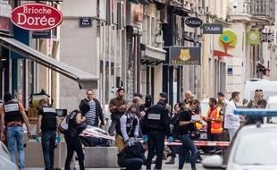 Vendredi à Lyon, où une explosion au colis piégé a eu lieu rue Victor-Hugo.