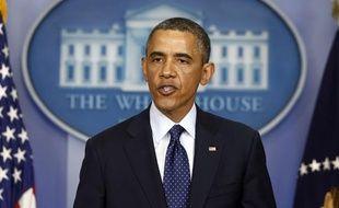 Barack Obama à la Maison blanche le 15 avril 2013.