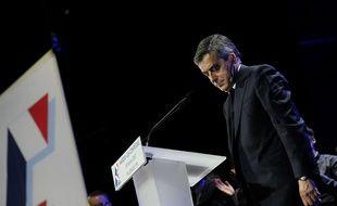 François Fillon, candidat LR à la présidentielle, en meeting à Margny-lès-Compiègne le 15 février 2017