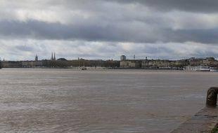 La Garonne à Bordeaux, le 11 février 2016