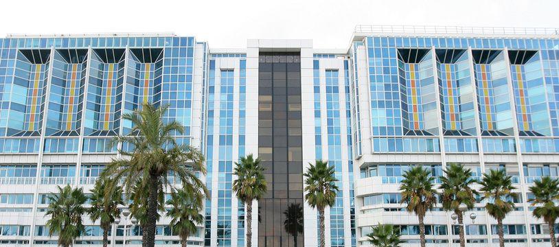 La façade de l'hôpital Lenval, à Nice