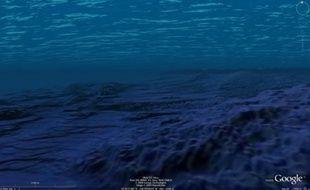 Vue sous l'eau, au large d'Hawaï, depuis Google Ocean