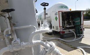Le camion transporte de l'azote (photo d'illustration).