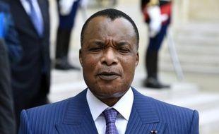 Le président du Congo-Brazzaville Denis Sassou-Nguesso à l'Elysée, le 7 juillet 2015 à Paris
