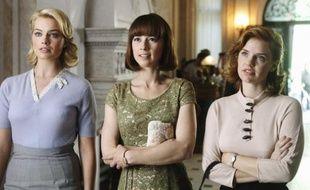 Série «Pan Am», saison 1, avec de gauche à droite les actrices Margot Robbie, Karine Vanasse, et Kelli Garner