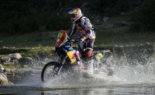 Le motard Cyril Desprès, le 14 janvier 2013 sur le Dakar