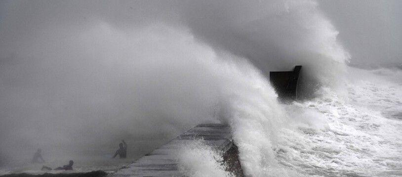Lors d'un précédent épisode de vent violent dans le Finistère, en 2020. (archives)