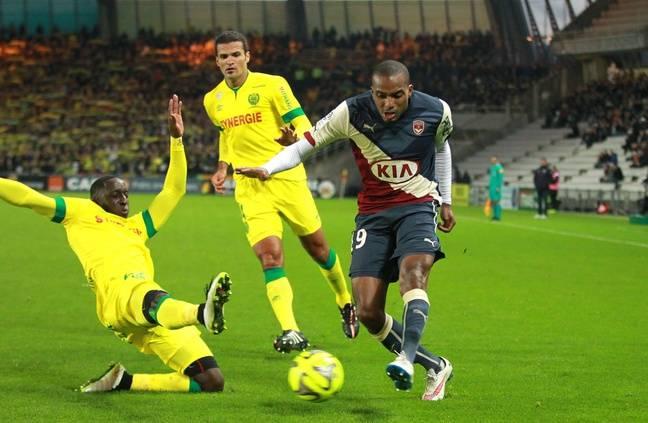 Nicolas Maurice-Belay, le milieu des Girondins, le 13 décembre 2014 lors de Nantes-Bordeaux.