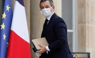 Paris, le 19 Octobre. Gérald Darmanin arrive à l'Elysée pour une réunion trois jours après l'attentat de Conflans.