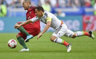 Quaresma et le Portugal opposés au Mexique lors de la Coupe des Confédérations 2017.