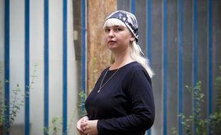 Polina Jerebtsova le 23 septembre à Paris. Elle publie en France son journal intime sur sa vie quotidienne à Grozny pendant la guerre en Tchétchénie.