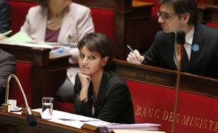 Najat Vallaud-Belkacem, le 29 novembre 2013 à l'Assemblée nationale.