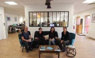 Une partie de L'Armada Productions dans sa casba, son nouveau QG culturel installé à Saint-Erblon, près de Rennes.