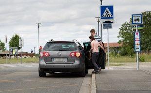 Un stop de covoiturage de Tisséo.