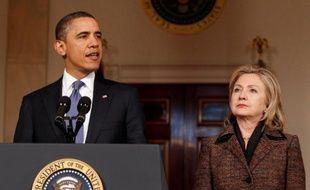 Barack Obama et Hillary Clinton, à la Maison Blanche, le 23 février 2011.