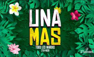Visuel végétal pour la soirée latina du O'Sullivans des Grands Boulevards