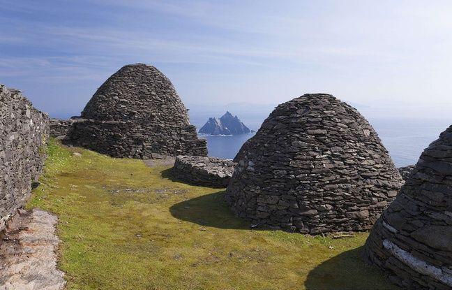 Les cabanes de pierre de l'île irlandaise de Skellig Michael, où ont été tournées des scènes de deux «Star Wars».