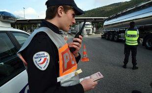 Contrôle de police, le 13 novembre 2015 à la frontière franco-italienne