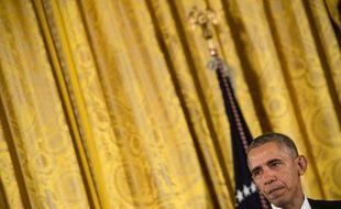 Le président américain Barack Obama à la Maison Blanche, le 24 novembre 2015