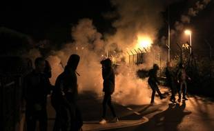 Incidents dans les rues de Bastia, le 15 février 2016.