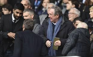 Gérard Houllier, ici au Parc des Princes le 4 mars dernier lors d'un match de Ligue 1entre le PSG et Nancy. JOHN SPENCER