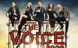 """Marc Lavoine, Lara Fabien, Amel Bent et Pascal Obispo, le nouveau jury de """"The Voice""""."""
