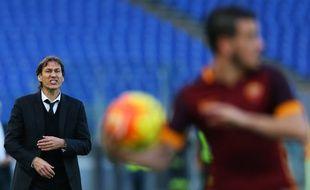 Rudi Garcia lors d'un match de l'AS Rome, fin 2015.
