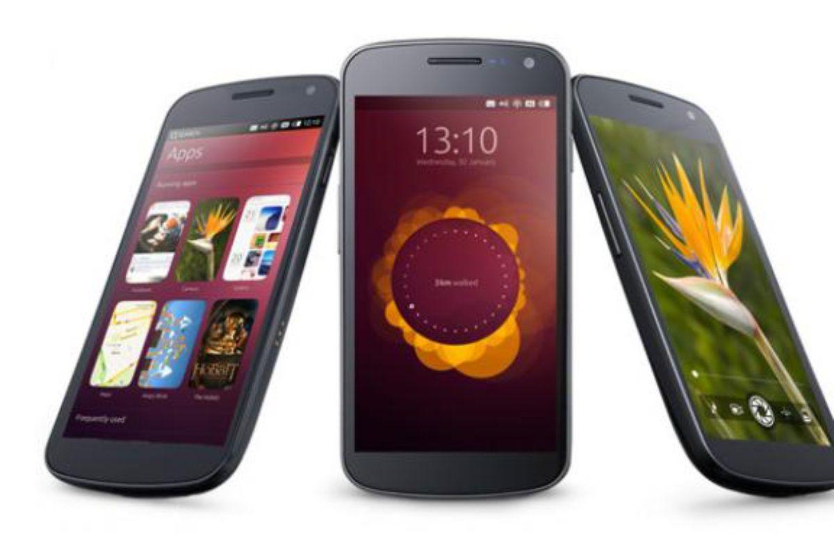 Ubuntu for phones, présenté par Canonical le 2 janvier 2013. – DR