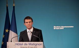 Manuel Valls à la tribune, le 30 mars 2015