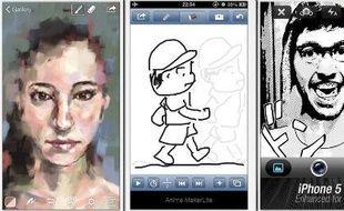 De nombreuses applications mettent le neuvième art à l'honneur sur smartphones et tablettes.