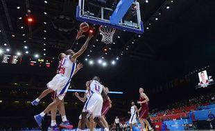 Tony Parker lors du quart de finale de l'Eurobasket France-Lettonie (84-70), le 16 septembre 2015 au stade Pierre-Mauroy de Lille.