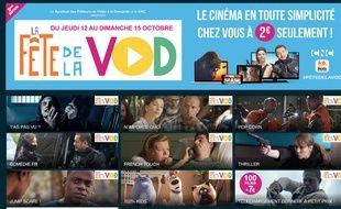 La Fête de la VOD se déroule du 12 au 15 octobre 2017.