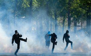 Illustration de la manifestation du 3 mai, à Nantes.