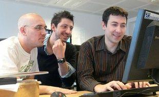 Davy Mourier, Monsieur Poulpe et Sébastien Ruchet de la chaîne NoLife.