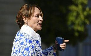 La ministre de l'Ecologie Ségolène Royal quitte l'Elysée, le 9 septembre 2015 à Paris