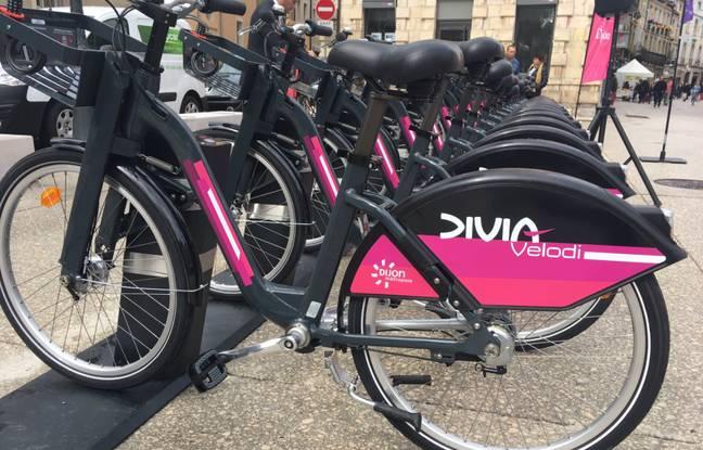 Les futurs vélos en libre service de Rennes seront similaires à ceux installés à Dijon par Keolis.