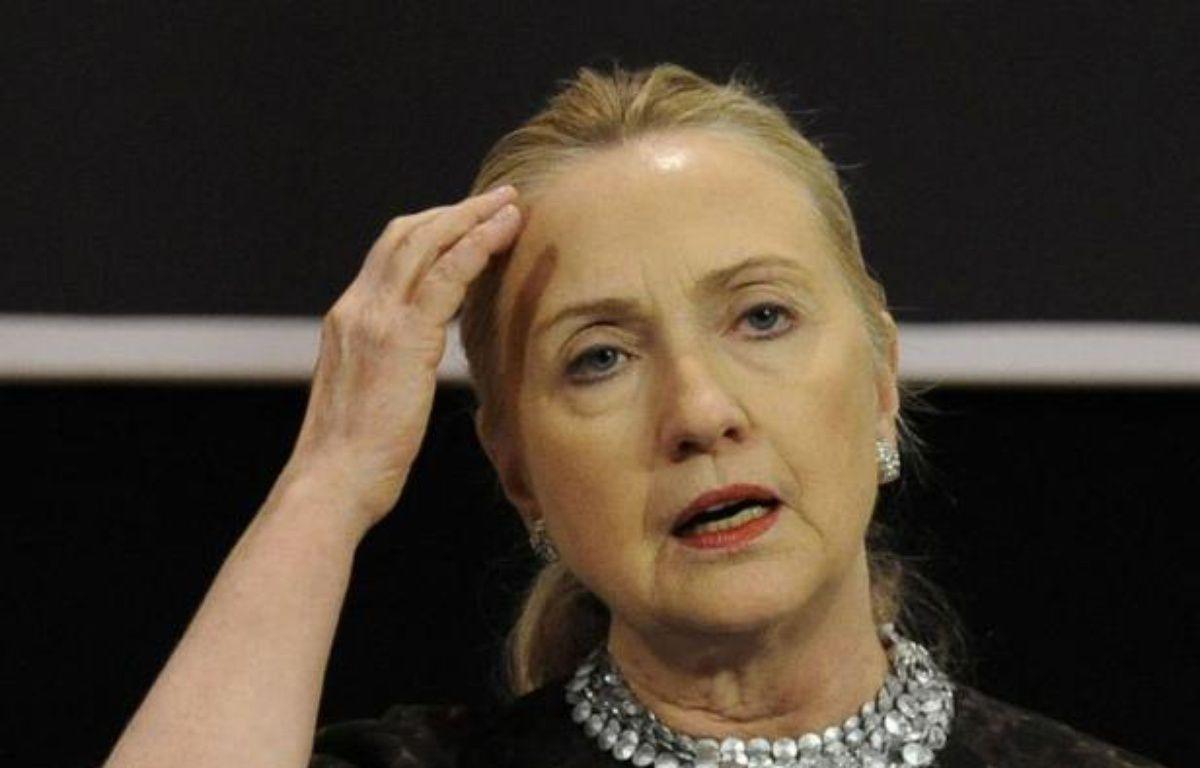 La secrétaire d'Etat américaine Hillary Clinton a été hospitalisée après avoir subi une thrombose (caillot sanguin) consécutive à une commotion cérébrale il y a deux semaines. – John Thys afp.com