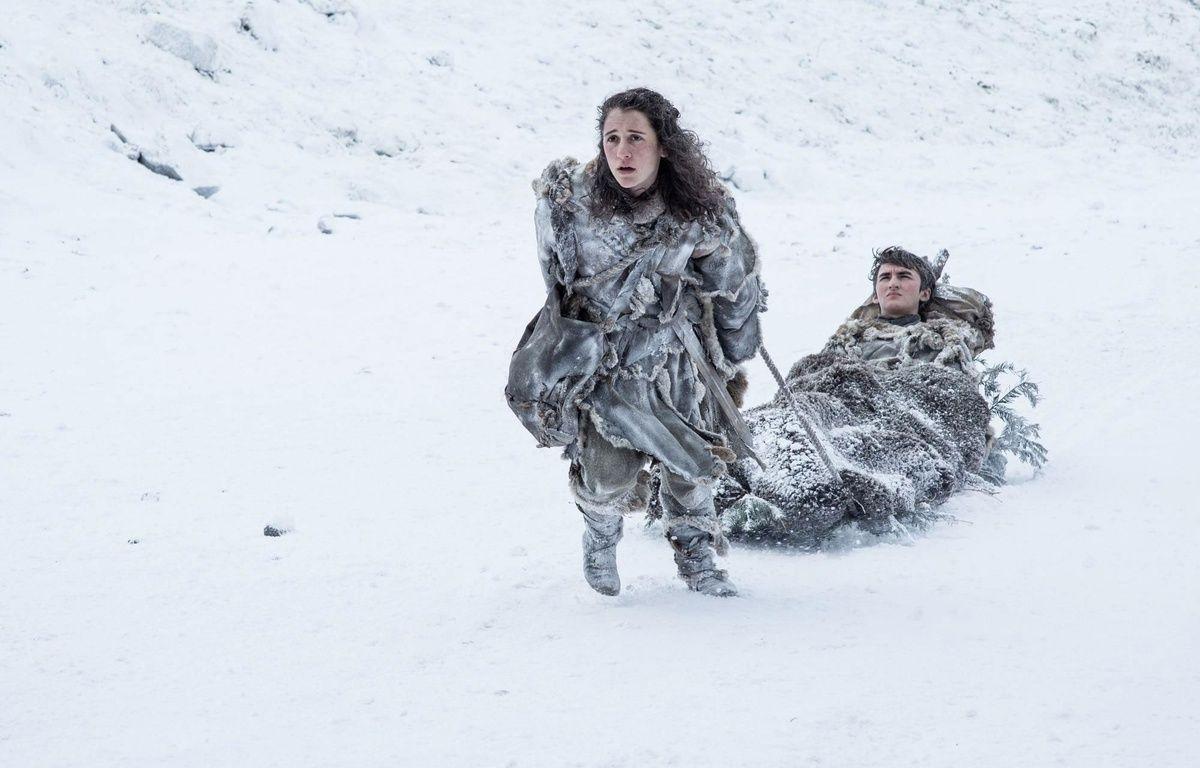 Ellie Kendrick et Isaac Hempstead-Wright dans la saison 7 de « Game of Thrones ».  –  Helen Sloan/HBO