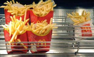Une photo, datée du 20 août 2009, de frites de la chaîne de restauration rapide McDonald's