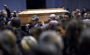 """Les funérailles de Stéphane Charbonnier, dit """"Charb"""", le 16 janvier 2015 à Pontoise"""