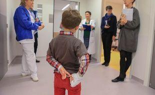 Test au traumacenter de l'hôpital de Hautepierre 2, à Strasbourg le 09 janvier 2019.