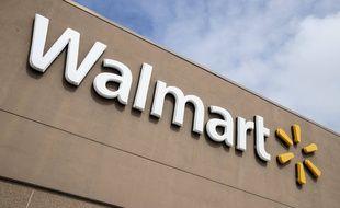 Une enseigne d'un magasin Walmart aux Etats-Unis. (illustration)