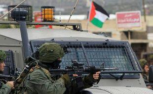 Un soldat israélien le 6 février 2015 à Qabatia