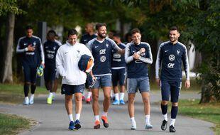 Les Bleus à Clairefontaine lors de la préparation à l'Euro 2021.